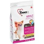 Корм 1st Choice Toy&Small Breeds, Healthy Skin&Coat для собак декоративных и мелких пород, для кожи и шести, ягненок и рыба, 2.72 кг
