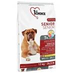 Корм 1st Choice Senior 7+ Sensitive Skin&Coat для собак старше 7 лет, для кожи и шерсти, с ягнёнком, рыбой и рисом, 12 кг