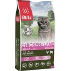 Корм Blitz Holistic Chicken & Lamb (низкозерновой) для кошек всех пород, курица и ягненок, 5 кг