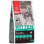 Корм Blitz Sensitive Kitten для котят, беременных и кормящих кошек, с индейкой, 400 г