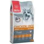 Корм Blitz Classic Chicken & Rice для собак, с курицей и рисом, 2 кг