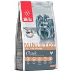 Корм Blitz Classic Mini & Toy для мелких и миниатюрных пород собак (до 10 кг), с курицей, 500 г