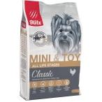 Корм Blitz Classic Mini & Toy для мелких и миниатюрных пород собак (до 10 кг), с курицей, 2 кг
