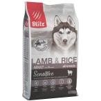 Корм Blitz Sensitive Lamb & Rice для собак, с ягнёнком и рисом, 2 кг