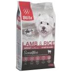 Корм Blitz Sensitive Lamb & Rice Small Breeds для собак малых пород, с ягненком и рисом, 2 кг