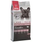 Корм Blitz Sensitive Lamb & Rice PUPPY для щенков, с ягнёнком и рисом, 15 кг