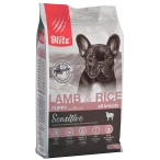 Корм Blitz Sensitive Lamb & Rice PUPPY для щенков, с ягнёнком и рисом, 2 кг