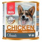 Корм Blitz Classic Chicken & Pumpkin (консерв.) для собак, курица с тыквой, 750 г