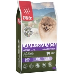Корм Blitz Holistic Lamb & Salmon Small Breeds (беззерновой) для собак малых пород, ягненок и лосось, 1.5 кг