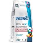 Корм Forza10 Diet Medium (гипоаллергенный) для собак средних пород при пищевой аллергии, с ягненком (с микрокапсулами), 12 кг