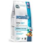 Корм Forza10 Diet Mini (гипоаллергенный) для собак малых пород при пищевой аллергии, с рыбой (с микрокапсулами), 1,5 кг