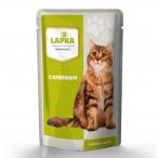 Корм Lapka (в соусе) для кошек с кроликом, 85 г