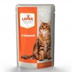 Корм Lapka (в соусе) для кошек с говядиной, 85 г