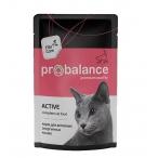 Корм ProBalance Active (консерв.) для активных кошек, 85 г