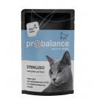 Корм ProBalance Sterilized (консерв.) для стерилизованных кошек, 85 г