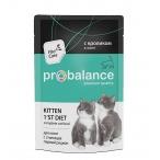 Корм ProBalance Kitten 1st Diet (в желе) для котят с кроликом, 85 г