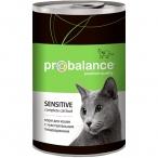 Корм ProBalance Sensitive (консерв.) для кошек с чувствительным пищеварением, 415 г
