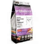 Корм ProBalance Gourmet Diet для кошек привередливых к еде говядина и ягненок, 10 кг