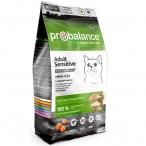 Корм ProBalance Sensitive для кошек с чувствительным пищеварением с курицей и рисом, 10 кг