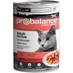 Корм ProBalance Active Adult (консерв.) для активных кошек, 415 г