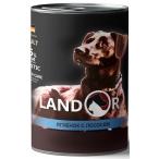Корм Landor Lamb & Salmon (консерв.) для собак всех пород, ягненок с лососем, 400 г