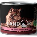 Корм Landor Turkey & Cranberries (консерв.) для стерилизованных кошек, индейка с клюквой, 200 г
