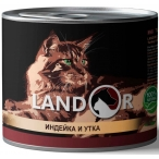 Корм Landor Kitten Turkey & Duck (консерв.) для котят, индейка с уткой, 200 г