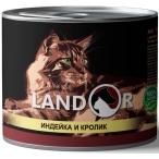 Корм Landor Turkey & Rabbit (консерв.) для кошек, индейка с кроликом, 200 г