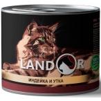 Корм Landor Turkey & Duck (консерв.) для кошек, индейка с уткой, 200 г