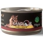 Корм Landor Tuna & Crab (консерв.) для кошек, тунец с крабом, 70 г
