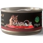 Корм Landor Tuna & Shrimp (консерв.) для кошек, тунец с креветкой, 70 г