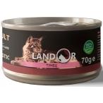 Корм Landor Tuna (консерв.) для кошек, тунец, 70 г