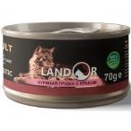 Корм Landor Chiken Breast & Crab (консерв.) для кошек, куриная грудка с крабом, 70 г