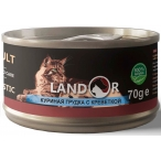 Корм Landor Chiken Breast & Shrimp (консерв.) для кошек, куриная грудка с креветкой, 70 г