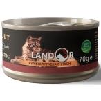 Корм Landor Chiken Breast & Duck (консерв.) для кошек, куриная грудка с уткой, 70 г