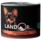 Корм Landor Small Breed Lamb & Rabbit (консерв.) для собак малых пород, ягненок с кроликом, 200 г