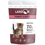 Корм Landor Kitten Turkey & Duck (консерв.) для котят, индейка с уткой, 85 г