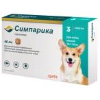 Симпарика (Zoetis) жевательная таблетка для собак 10 - 20 кг, от блох и клещей,  40 мг
