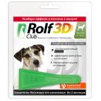 Капли RolfClub 3D для собак 4 - 10 кг, от блох и клещей, 1 пипетка, 1 мл