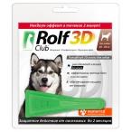 Капли RolfClub 3D для собак 20 - 40 кг, от блох и клещей, 1 пипетка, 2,5 мл