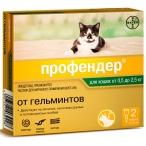 Профендер (Bayer) для кошек весом 0.5-2.5 кг (2 пипетки х 0.35 мл), 10 г