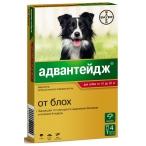Адвантейдж (Bayer) для собак от 10 до 25 кг (4 пипетки х 2.5 мл)