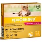 Профендер (Bayer) для кошек весом 5-8 кг (2 пипетки х 1.12 мл), 10 г
