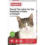 Flea & Tick (Beaphar) ошейник для кошек, от блох и клещей, зеленый, 35 см