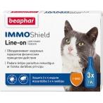 IMMO Shield Line-on (Beaphar) капли для кошек от паразитов (Vermicon), 3 пипетки по 1 мл