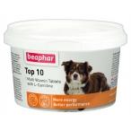 Top 10 (Beaphar) мультивитаминная добавка для собак, с L-карнитином, 180 шт.