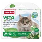 VETO pure (Beaphar) биокапли для кошек от паразитов, 3 пипетки