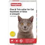 Flea & Tick (Beaphar) ошейник для кошек, от блох и клещей, желтый, 35 см
