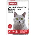 Flea & Tick (Beaphar) ошейник для кошек, от блох и клещей, красный, 35 см
