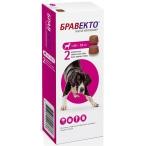 Бравекто (Intervet) жевательная таблетка от блох и клещей для собак весом 40-56 кг, 1400 мг (2 таблетки)